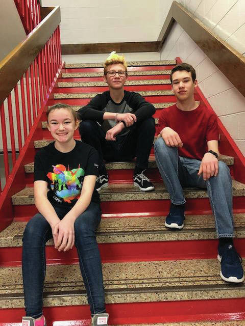 Eighth grader Maggie Snee, seventh-grade student Ethan Martin and eighth grader Ryan Martz all qualified for nationals in the National History Bee competition.
