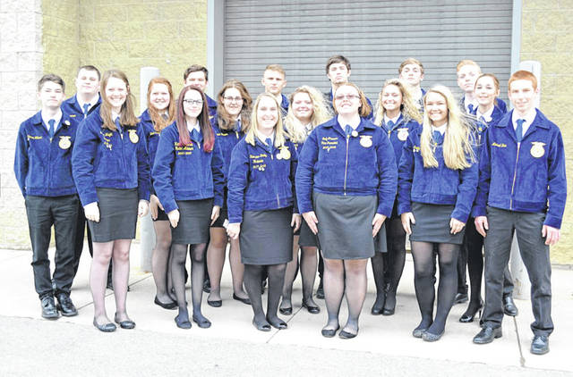 Provided photo  Recipients of the State FFA degree at the 2018 State FFA Convention were, left to right, Zach Kronenberger, Kylie Blair, Alex Isbrandt, Emily Thimmes, Dylan Hahn, and Maci Krites. Approximately 950 degrees were awarded.