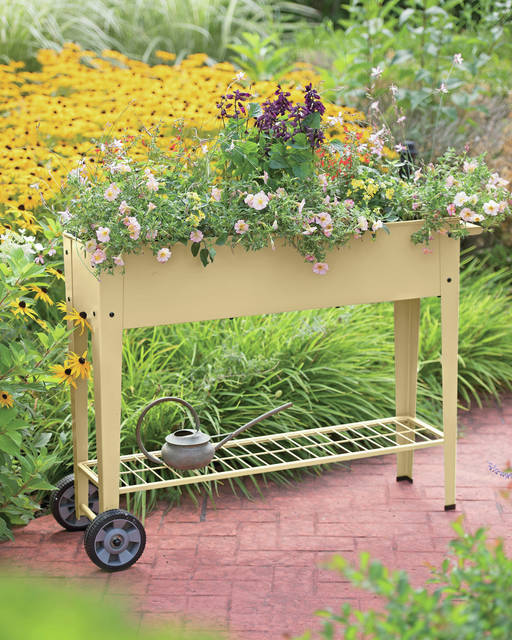 Provided photo Elevated gardens are an easy and convenient way to add planting space wherever it's desired.
