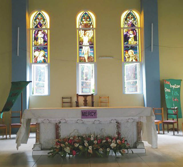 Provided photo The marble altar at St. John and St. Lewis Catholic Churches in Portsmouth of the Commonwealth of Dominica that the congregation rebuilt piece by piece after the 2004 earthquake.