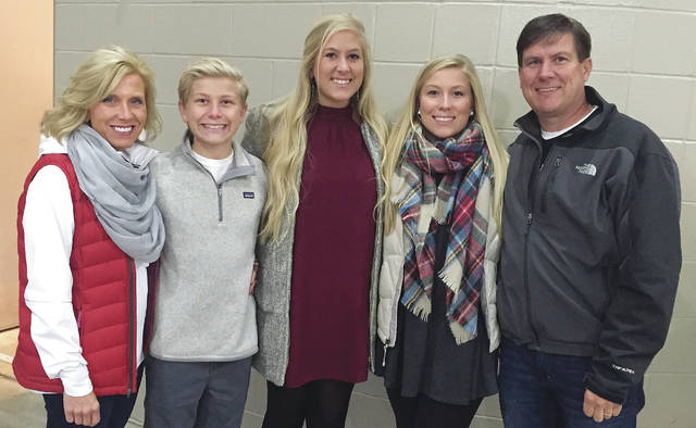 Provided photo The Bender family (from left-right) Dee Dee, Tag, Ireland, Madyson and Stan pose for a family picture. Stan currently is battling ALS and his children are hoping to raise awareness of the disease and money to help fund the fight against ALS. May is ALS Awareness Month.