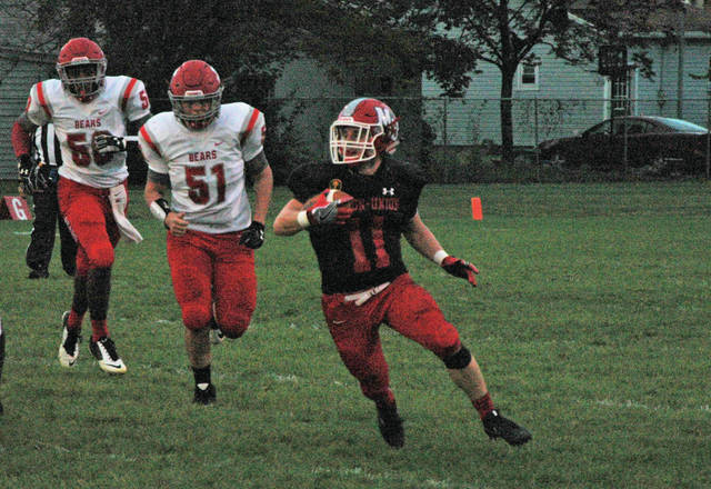 Josh Brown/Troy Daily News file Milton-Union's Zac Shields became the Bulldogs' all-time leading rusher during a Week 4 game against Northridge last year.