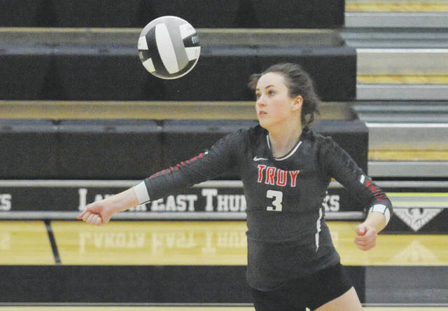 Josh Brown | Troy Daily News Troy's Dana Wynkoop recently signed her national letter of intent to attend school and play volleyball at Otterbein University.