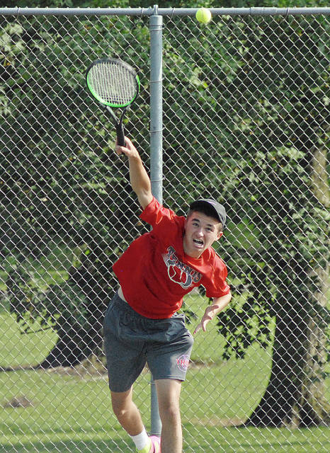 Anthony Weber | Troy Daily News file Nathan Kleptz won a singles and doubles title Thomas Frydell Memorial Junior Tennis Tournament last summer.