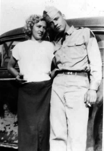 John and Jean Adams in 1953.