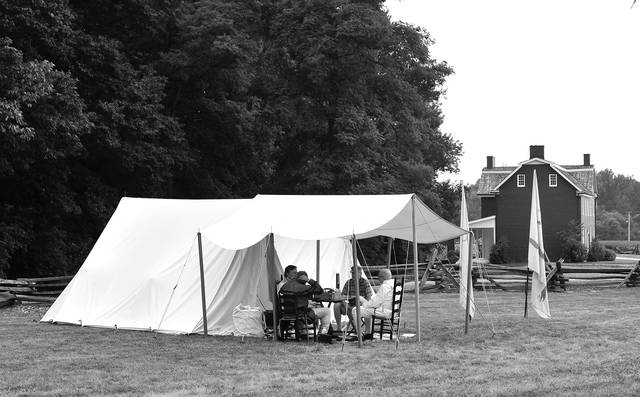 Mike Ullery | Daily Call History Alive is happening this weekend at the John Johnston Farm & Indian Agency. Visitors can tour the museum and the John Johnston home, as well as visit historically acurate campsites depicting life in the mid-1800s. The event is open from 10 a.m. to 5 pm. on Sunday.