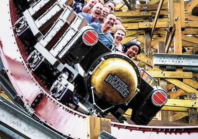 Cedar Fair Entertainment Company Standing 205 feet tall with four inversions and more than a mile of track, Cedar Point's Steel Vengeance is the newest attraction to the Sandusky amusement park.