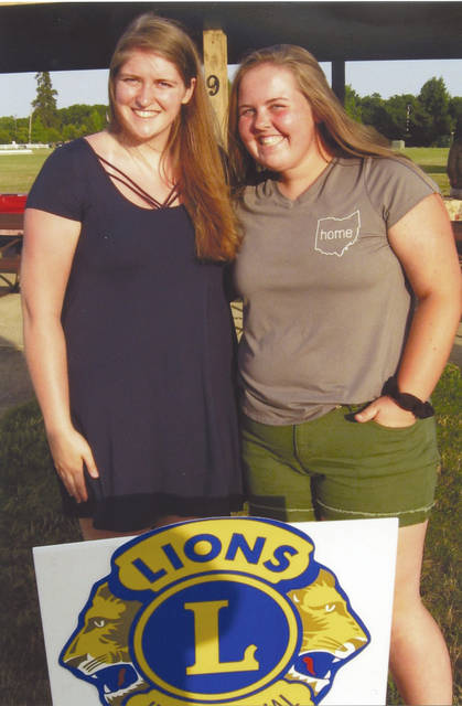 Provided photo Hannah Hargrove, left, a graduate from Troy High School, and Kacie Tackett from Newton High School, were chosen as the Troy Lions Club scholarship winners.