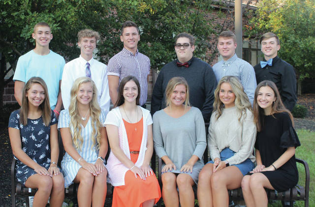 Provided photo This year's Tippecanoe High School Homecoming court included freshmen Olivia Spiller and Griffin Caldwell, sophomores Belle Williams and Nick Shirley, juniors Gavin Nordquist and Hailey Vaughn, and seniors Katie Taylor, Jackie Bashore, Jillian Brown, Brad Dettwiller, Gabe Parsons and Michael Pfister.