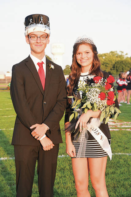 Ben Robinson   Color Green Creative Covington High School crowned Sam Hutchinson as king and Makenna Gostomsky as queen during the Homecoming festivities on Friday night at Smith Field.