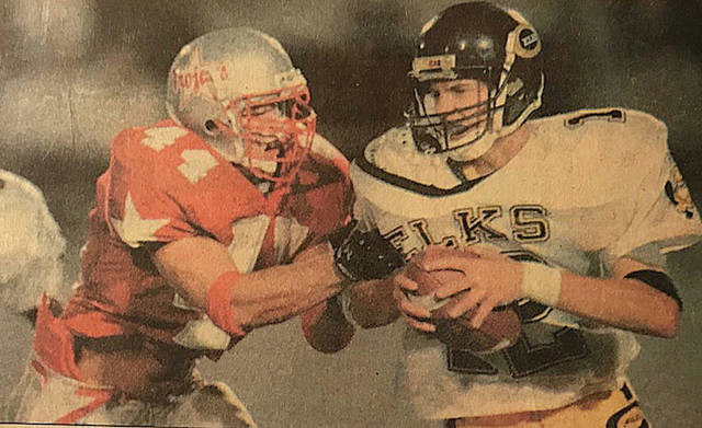 Troy Daily News file photo Former Troy linebacker Jason Manson (left) will be inducted into the Troy Athletic Hall of Fame Class of 2018 this weekend.