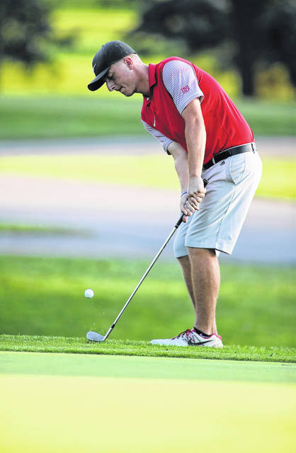 Lee Woolery | Troy Daily News Troy senior Holden Scribner will be competing this weekend at the Division I state golf tournament in Columbus.