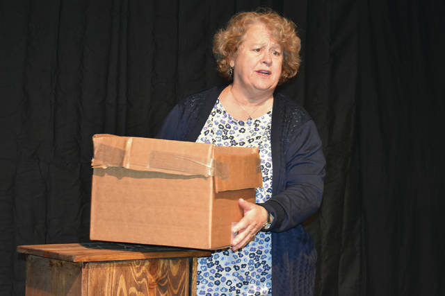 "Cody Willoughby | Troy Daily News Barbara Lurie portrays Betty in Troy Civic Theatre's production of ""Chapatti,"" which opens Friday at the Barn in the Park."