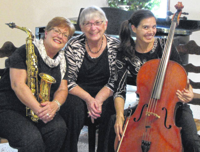 Provided photo Musicians in the group Eclectic Three include Sharon Schwanitz, alto sax; Tara Mar Iddings, cello; and Yvonne Washer-Carson, piano. The group will perform at Hayner on Sunday, Oct. 14, at 2 p.m.