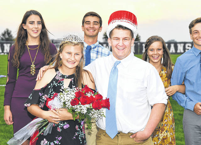 Provided photo Recently crowned Newton High School royalty pose with some of the members of their homecoming court. This year's Homecoming Queen is Morgan Robbins and the King is Dylan Kline.
