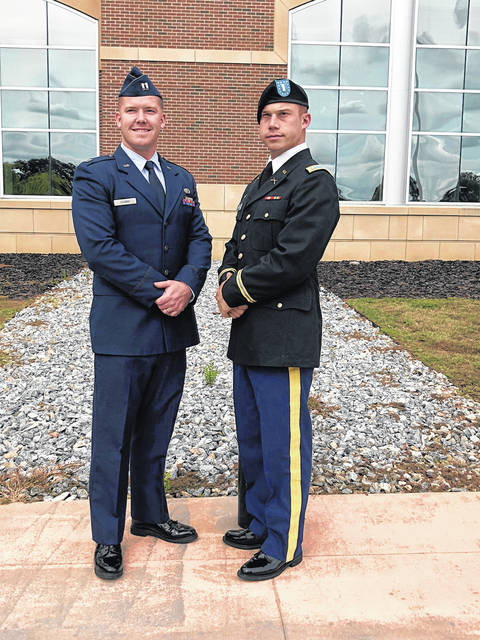 Provided photo US Air Force Captain R. Copeland Stubbs III, left, with his brother, newly commissioned 2nd Lieutenant George Stubbs of the United States Army.