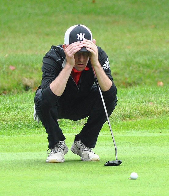 Rob Kiser|AIM Media file Chet Jamison looks over a birdie putt at the sectional tournament last week.