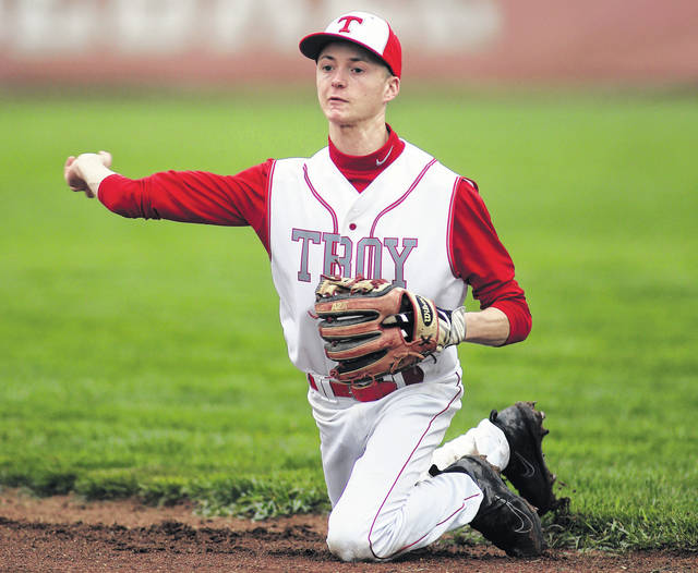 Lee Woolery | Troy Daily News file photo Troy infielder Austin Kendall recently signed his national letter of intent to play baseball at the University of Rio Grande.