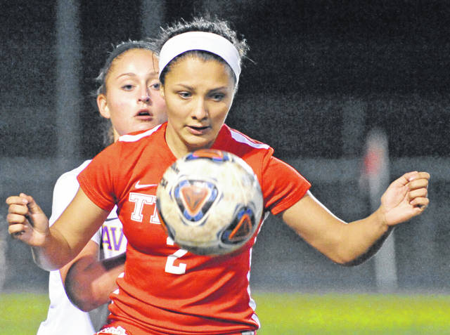 Josh Brown | Miami Valley Today file photo Troy senior Kiyha Adkins recently signed her national letter of intent to play soccer at Ohio Domincan University.