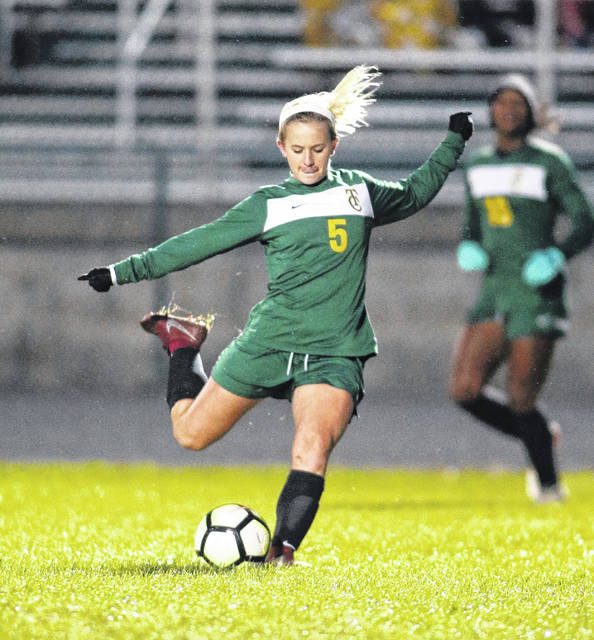 Lee Woolery|Miami Valley Today file photo Troy Christian's Riley Spoltman was named the MBC Athlete of the Year in girls soccer this season.