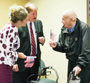 Mulder shares story at veterans salute