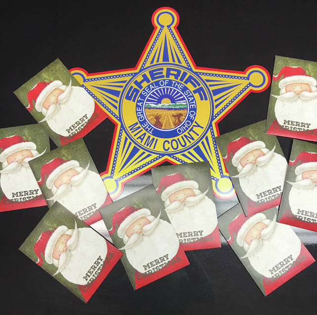 Provided photo The Miami County Sheriff's Office again this year received donations for deputies to share with those in the community in need.