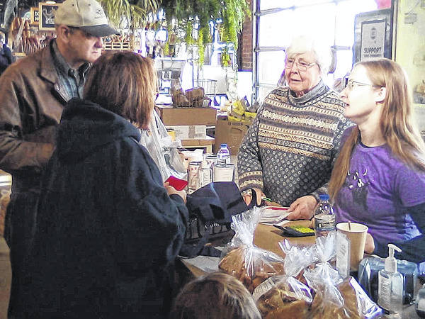 Mike Sakal | For MVSN Jean Mattis of West Milton and her granddaughter Elizabeth Elam at the market.