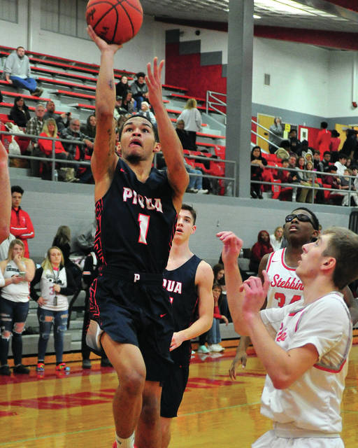 Piqua's Qurri Tucker goes up for a shot against Stebbins Friday night.