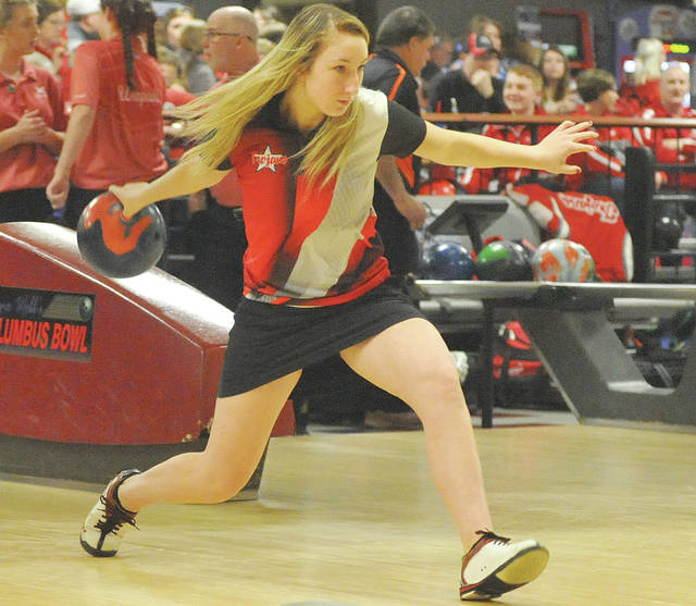 Josh Brown | Miami Valley Today file photo Troy's Stephanie Crider recently signed her letter of intent to bowl at the University of Pikeville.