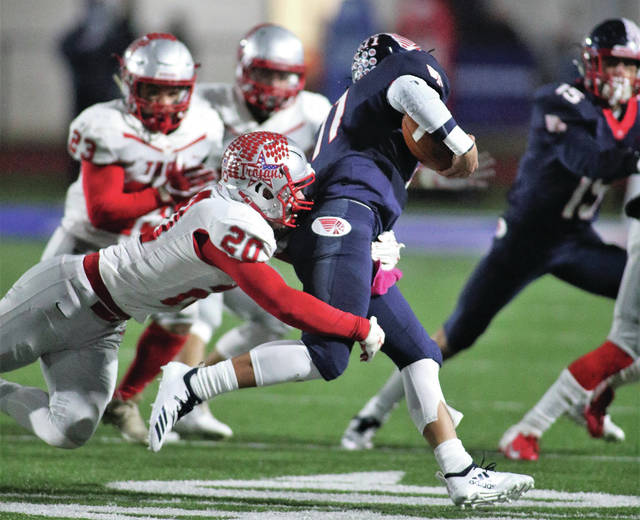 Lee Woolery | Miami Valley Today file photo Last fall, the Troy and Piqua football teams played for the final time as members of the Greater Western Ohio Conference. This fall, both teams will plays as members of the MVL.