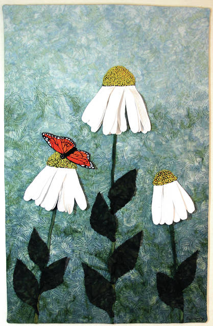 "Provided photo ""Butterfly Rest Stop,"" an original quilt designed by artist Debra Bentley, which is now on display in the exhibit, ""Still in Stitches,"" at Troy-Hayner Cultural Center."