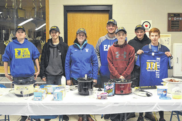 Provided photo The Miami East-MVCTC FFA Chapter recently held its annual Chili Cook-Off Competition. Pictured, left to right, are participants Jacob Sweitzer, Rylee Puthoff, Jeffrey Blackford, Carter Gilbert, Ethin Bendickson, and Michael Bair.