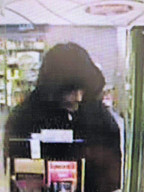 Provided photo Troy PD is investigating a robbery at West Main Street Speedway overnight. The suspect is a white male in his 50s, 5 feet, 10 inches to 6 feet tall with a salt and pepper goatee. If you have any information, call police at 339-7525 or 9-1-1's non-emergency number at 440-9911.