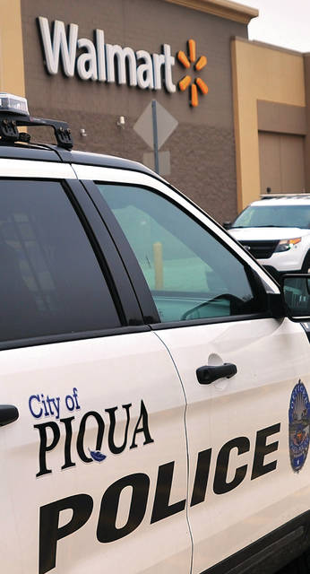 Law enrorocement units from Piqua and surronding agencies respond to the Piqua Walmart on Monday afternoon on the report of shots fired.