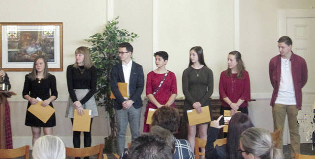 DAR Good Citizen awards were awarded to Alyssa-Rapp, Kyli-Parsons, Mason-Darner, Marie-Cook, Jaclyn-Bashore, Lindsey-Barhorst and Hunter-Alexander.