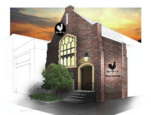 Artist's rendering The Troy Planning Commission unanimously denied the removal of stained glass windows in the former church building, now owned by Moeller Brew Barn's Tabernacle Brewing Company at 214 W. Main St. The rendering shows the new proposed front of the brewery.