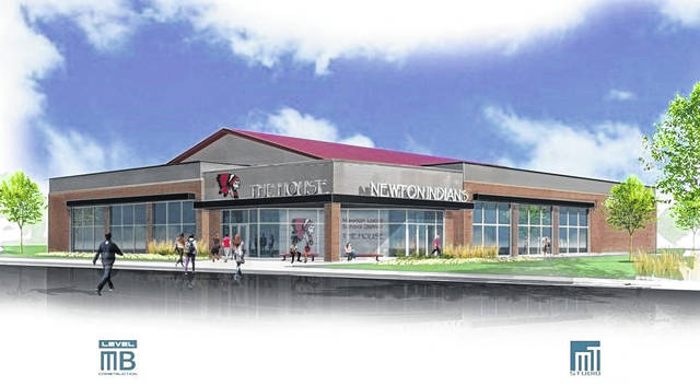 Provided photo The proposed design for a new multi-purpose athletic/community center by Level MB and MT Studios for the Newton Local School district.