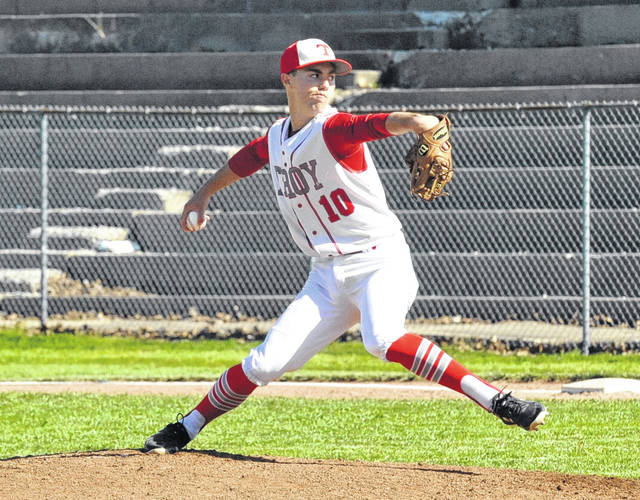 Josh Brown | Miami Valley Today file photo Senior Cole Brogan will be the staff ace for the Trojan pitching staff this season.