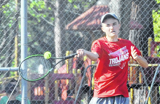 Josh Brown|Miami Valley Today file Troy's Nathan Kleptz hits a shot during last year's sectional tournament.