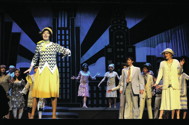 "Cecilia Fox | Miami Valley Today Millie Dillmount, played by Melanie Dodson, arrives in New York and sets out to build a modern new life for herself in the Tippecanoe High School production of ""Thoroughly Modern Millie."""