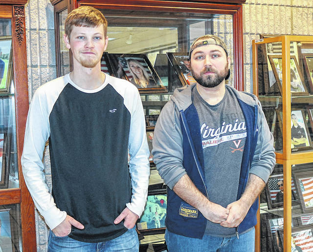"Provided photo The next free monthly Miami Valley Veterans Museum coffee will be held on Wednesday, April 3, from 9-11 a.m. on the second floor of the Masonic Temple, 107 W. Main St., Troy. The museum will feature ""Today's Army; Today's Navy,"" with Ryan Henson and Ryan Newton, two students completing their education at Edison State Community College. They will share the armed services' ongoing support of their educational and workforce plans."