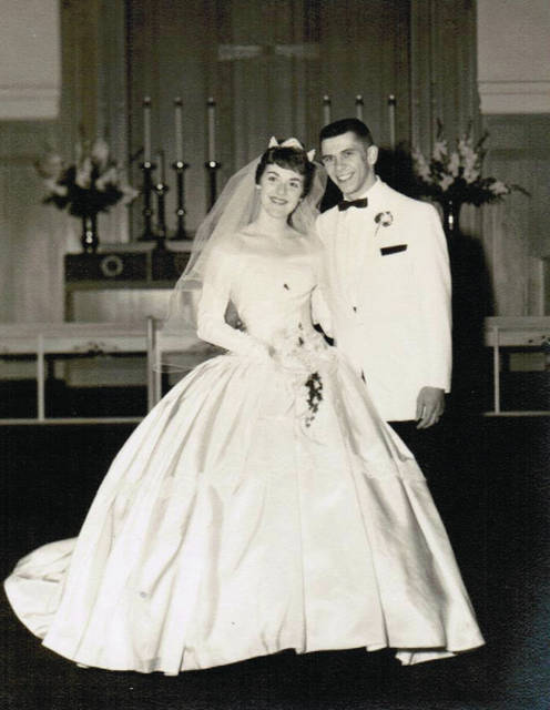 Provided photo Joyce and Tom Jenkins were married in Findlay 60 years ago.