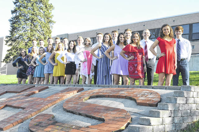 Photo courtesy of Jeff Owen The 2019 prom court at Troy High School includes, front row, left to right: Tiyanna Boyd, Lily Clouser, Josalyn Abrams, Megan Malott, Mackenzie Evans, Lauren Garlow, Emilie Farrier, Ciena Miller, Olivia Love, Josie Rohlfs, Katie Castaneda; back row, left to right: Chris DeMeo, Travis Bertram, Spence Klopfenstein, Jacob Adams, Cole Brogan, Jakob Libecap, Sam Shaneyfelt, Luke Severt, Sam Felton, Bailey Webb, Seth Plantz. The THS prom will be held from 8-11 p.m. Saturday, April 13, at the Dayton Art Institute.