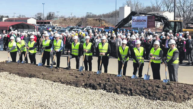 Photo by the Troy Area Chamber of Commerce Conagra Foods broke ground at its facility in Troy on Wednesday on its $70 million expansion for its meat snacks line.