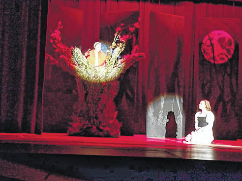 Provided photo Cinderella, portrayed by Lauren Riley, listens to advice from her late mother, portrayed by Kirstyn Lee of Piqua.