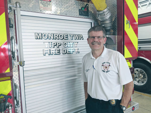 Cecilia Fox | Miami Valley Today Cameron Haller, Tipp City's new Chief of Emergency Services, is learning the ropes of the new department. He worked for the Sidney Fire Department for more than 20 years.