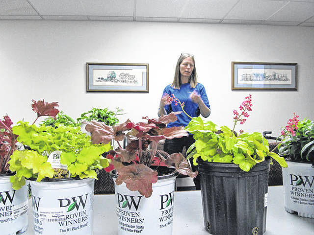 Provided photo On April 2, Abigail Hunter, team lead from Andy's Garden Center, spoke at the Tipp City Garden Club's monthly meeting.