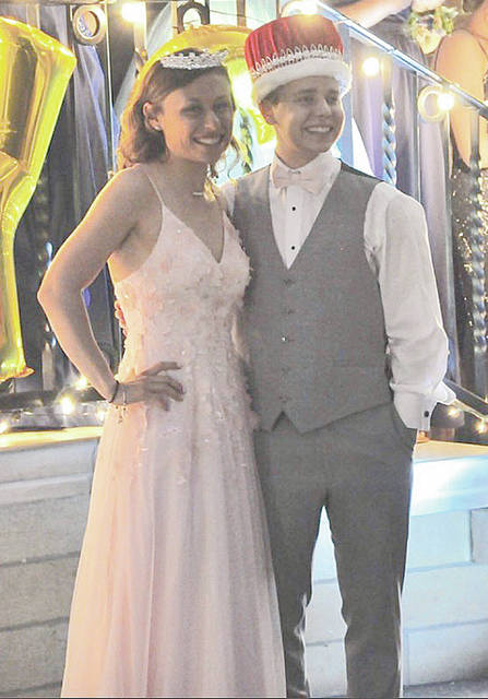 Miami Valley Sunday News photo courtesy of Kate Pence Troy High Schools seniors Katie Castaneda (left) and Bailey Webb recently were crowned Troy's prom queen and king. Both shared remarkable journeys on their way to becoming royalty.