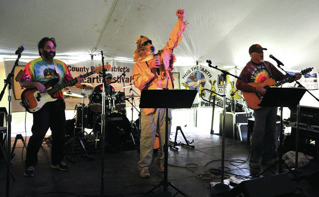 The Banana Slugs String Band headlines Saturday's Miami County Park District Hug the Earth Festival at Stillwater Prairie. More than 330 youngsters and parents attended the concert.