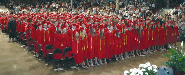 Lee Woolery | For Miami Valley Today The Troy High School Class of 2019 sings the school's alma mater.